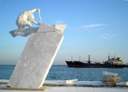 Escultura de Amancio en Turquía.