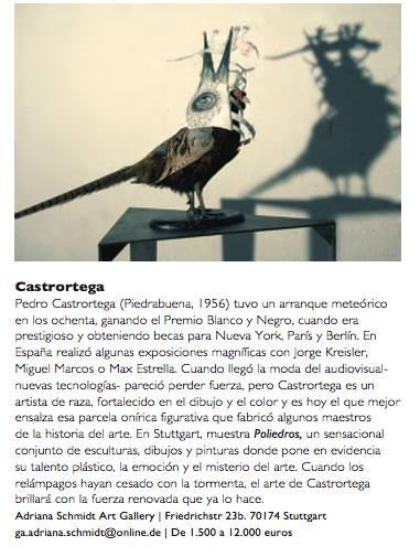 """Reseña de Pedro Castrortega en """"Tendencias del arte""""."""