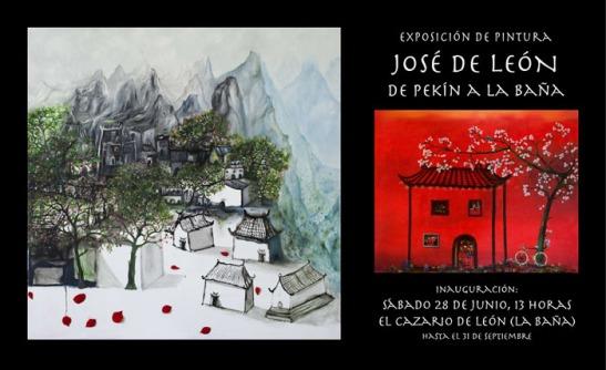 Invitación a la exposición de José de León.