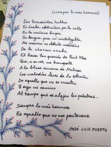 Poema de José Luis Puerto.