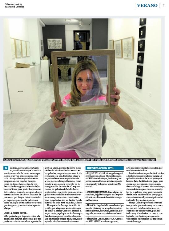 Segunda página de la entrevista con Marga Carnero.