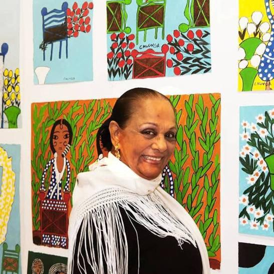 La Chunga durante la presentación de su exposición en la galería ármaga (León). © Fotografía: CUEVAS.