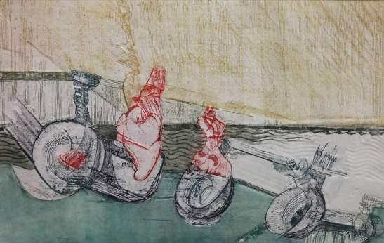 Detalle de una obra de Lucio Muñoz que se puede ver en Gordoncillo.