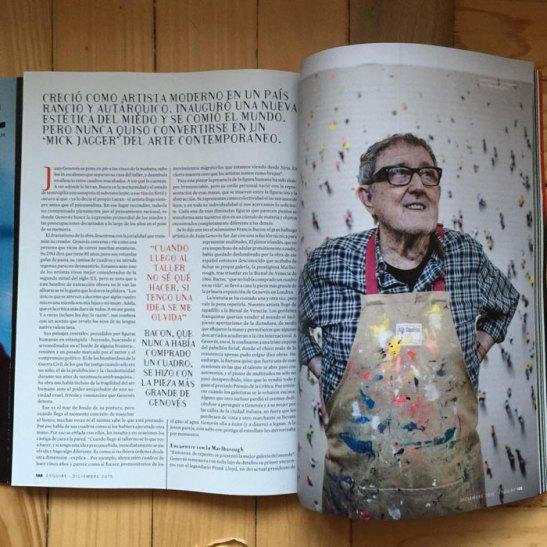 Entrevista a Juan Genovés en la revista Esquire.