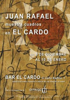 Cartel exposición en El Cardo.