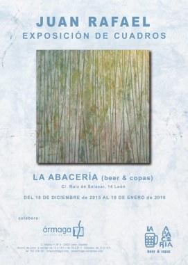 Cartel exposición en La Abacería.