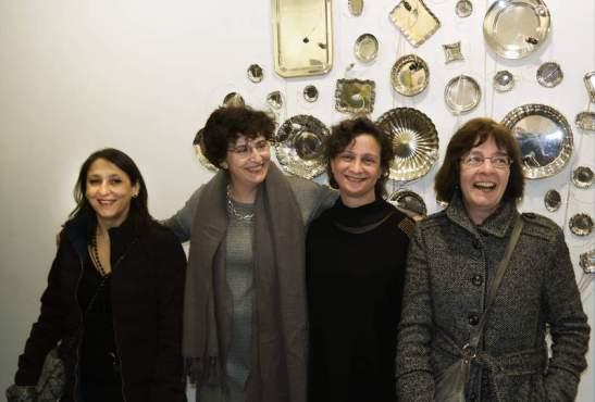 Las artistas leonesas Begoña Pérez. Cristina Ibáñez, Reme Remedios y Olga Llamas. © Foto: Cuevas / Diario de León.