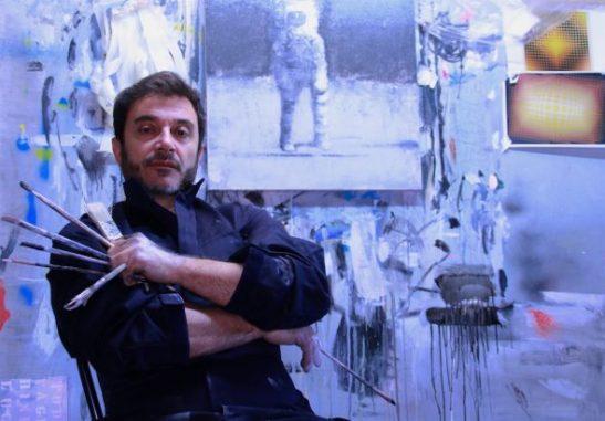 El artista berciano Fernando Vázquez Mourelo.