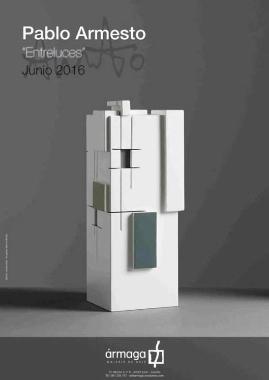 Cartel de la exposición de Pablo Armesto.