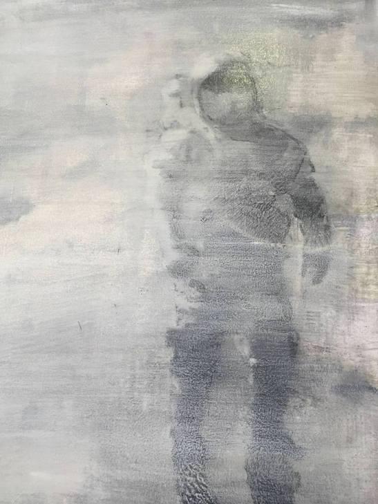 Una de las obras de la exposición de Vázque Mourelo en Ármaga.