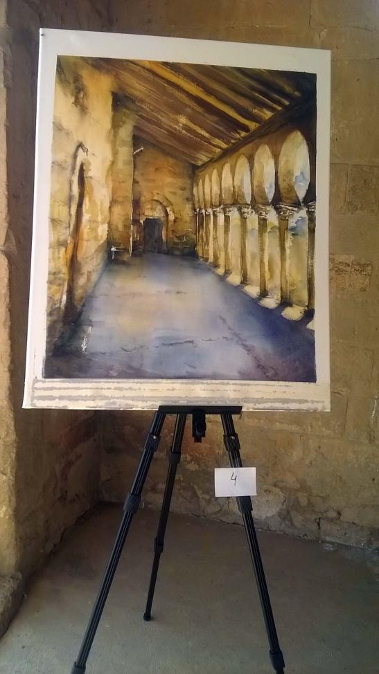 Acuarela del artista leonés Juan-Ramón Alves Fernández que obtuvo el Premio especial Galería Armaga.