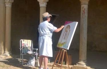 Una de las artistas participantes.