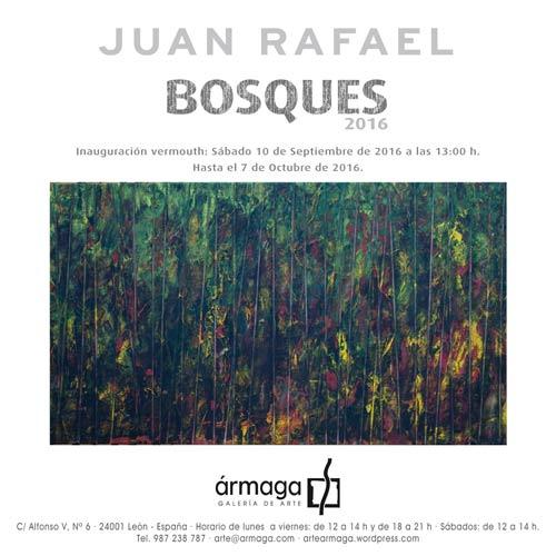 Exposición Bosques 2015, de Juan Rafael, en Ármaga.